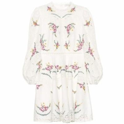 ジマーマン Zimmermann レディース ワンピース ワンピース・ドレス Allia cotton and linen minidress Ivory