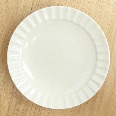 中皿 丸皿 しのぎ5.0皿 白伊賀 業務用 和食器 美濃焼 21y321-37-515