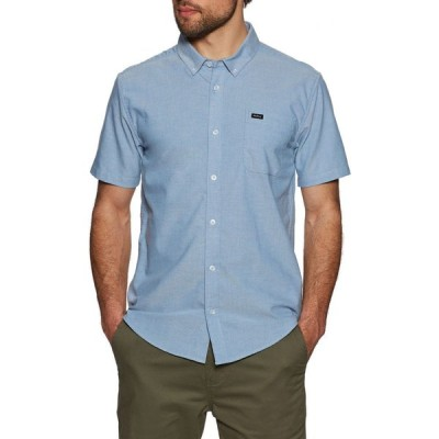 ルーカ RVCA メンズ 半袖シャツ トップス thatll do stretch short sleeve shirt Oxford Blue