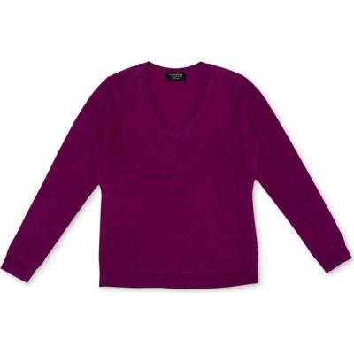 チャータークラブ Charter Club レディース ニット・セーター Vネック トップス V-Neck Cashmere Sweater, Regular & Petite Sizes Fuschia Flirt
