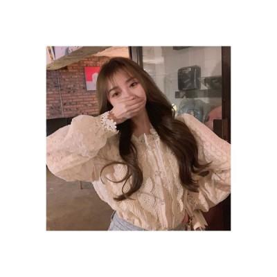 【送料無料】西洋風 レースのシャツ 女 秋冬 韓国風 何でも似合う 着やせ 長袖シャ | 346770_A64394-1290794