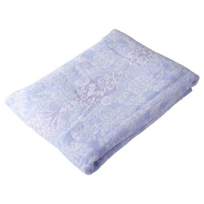西川産業 タオルケット ブルー シングル 綿100% ふわふわ ボリューム パステルカラー マイモデル RR09050032B