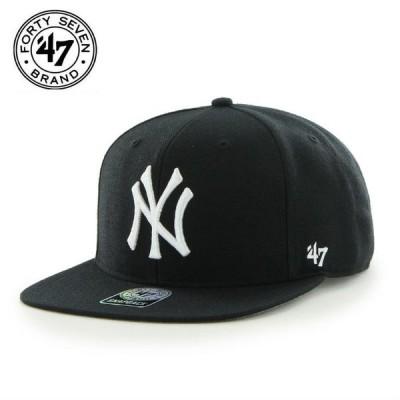 ヤンキース キャップ CAP 47Brand フォーティーセブンブランド Yankees Sure Shot '47 CAPTAIN Black 帽子 ユニセックス メンズ レディース