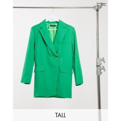 ナーナー NaaNaa Tall レディース スーツ・ジャケット アウター oversized dad blazer in green グリーン