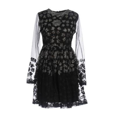 PF PAOLA FRANI ミニワンピース&ドレス ブラック 38 ナイロン 100% / レーヨン ミニワンピース&ドレス