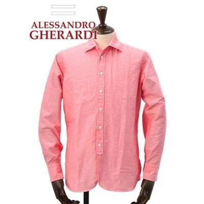 アレッサンドロゲラルディ ALESSANDRO GHERARDI 長袖シャツ メンズ ERALコラボ オックスフォード ピンク 国内正規品 でらでら 公式ブランド