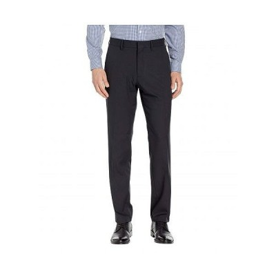 Kenneth Cole Reaction ケネスコール メンズ 男性用 ファッション パンツ ズボン Solid Stretch Gab Modern Fit Flat Front Dress Pants - Black