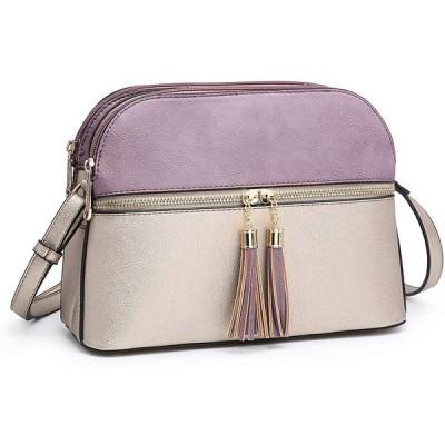 Dasein レディース タッセル ジッパー ポケット Crossbody Bag ショルダー パース ファッション トラベル Ba(海外取寄せ品)