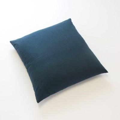 ツムギクロス 藍みどり 座布団カバー(銘仙判)