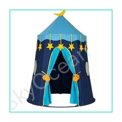 Whitleig Cotton Yurt Tent with Small Colorful Flags Blue【並行輸入品】