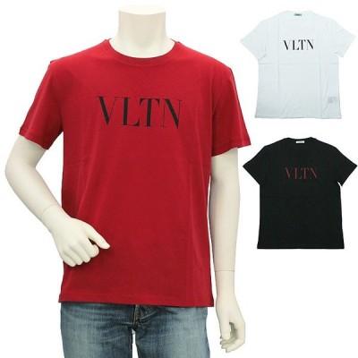 ヴァレンティノ VALENTINO ロゴデザインクルーネックTシャツ TV3MG10V3LE メンズ ヴァレンチノ バレンティノ バレンチノ