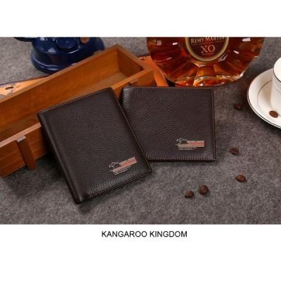 カンガルー Kingdom 有名なブランドメンズ財布本革財布財布ショートデザインカジュアルポケット財布
