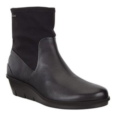 エコー レディース ブーツ&レインブーツ シューズ Skyler GORE-TEX Ankle Boot Black/Black Cow Leather/Textile