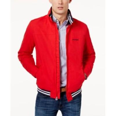 トミー ヒルフィガー メンズ ジャケット・ブルゾン アウター Men's Regatta Jacket Racing Red