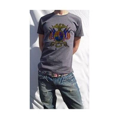 ( 送料無料 ) dial9up 古典的 紋章にありそうで無いポイント カラーリング 脱帽 デザインTシャツ WWA