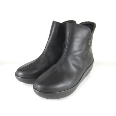 アキレスソルボ レディース 325 黒 SRL3250 ショートブーツ 厚底ブーツ ファスナー ゴアテックス 防水 防風 透湿 撥水 滑りにくい底 衝撃吸収 履きやすいブーツ