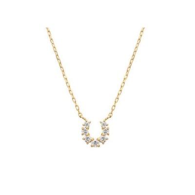 ヨンドシー 4℃  K10イエローゴールド ダイヤモンドネックレス 新品正規品 正規ラッピング 111816123018