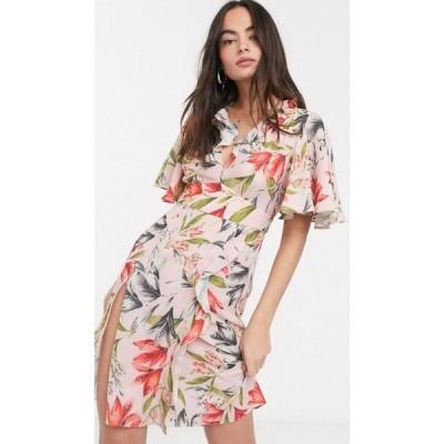 フレンチコネクション French Connection レディース ワンピース ミニ丈 ワンピース・ドレス cadencia crepe mini dress in multi
