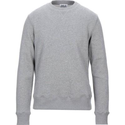 バンドオブアウトサイダーズ BAND OF OUTSIDERS メンズ スウェット・トレーナー トップス sweatshirt Light grey