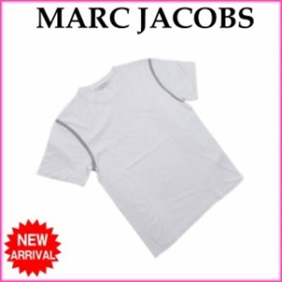 マークジェイコブス Tシャツ カットソー Sサイズ 袖ライン入り ホワイト×グレー MARC JACOBS 中古 F1300