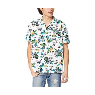 エドウィン シャツ EDWINが満載 半袖 アロハシャツ メンズ ET2089 ホワイト 日本 S (日本サイズS相当)