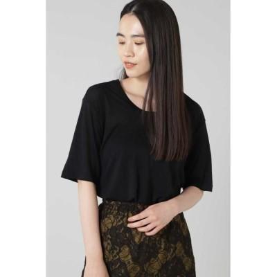 ROSE BUD/ローズ バッド ベーシックTシャツ ブラック -