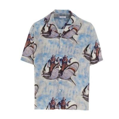 ルード メンズ シャツ トップス Rhude Shark Vacation Short-Sleeve Shirt -
