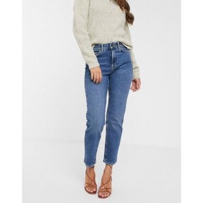 ヴェロモーダ Vero Moda レディース ジーンズ・デニム ボトムス・パンツ organic cotton straight leg jeans in mid blue