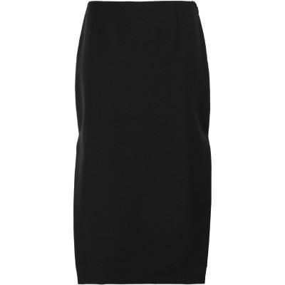 プラダ PRADA 7分丈スカート ブラック 42 モヘヤ 60% / ウール 40% 7分丈スカート