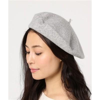 帽子 lala Born/ウールシンプルベレー帽