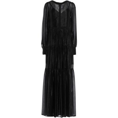 BLACK CORAL ロングワンピース&ドレス ブラック 42 シルク 83% / ナイロン 17% ロングワンピース&ドレス