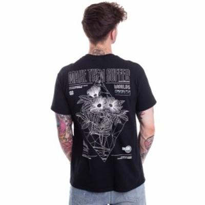 メイク ゼム サファー Make Them Suffer メンズ Tシャツ トップス - Diamond Flowers - T-Shirt black