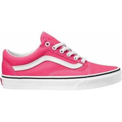 バンズ メンズ スニーカー シューズ Vans Old Skool Skate Shoes Pink/White