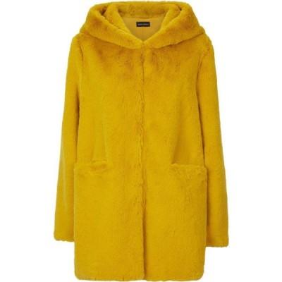 ジュームズ レイクランド James Lakeland レディース コート ファーコート アウター Front Pocket Faux Fur Coat Yellow