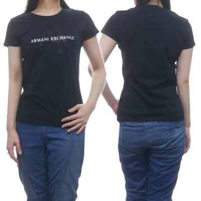 ARMANI EXCHANGE アルマーニエクスチェンジ レディースクルーネックTシャツ 3HYTAY YJ73Z ブラック