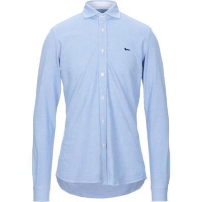 ハーモント アンド ブレイン HARMONT&BLAINE メンズ シャツ トップス patterned shirt Azure