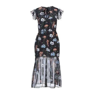 マーカス・ルプファー MARKUS LUPFER 7分丈ワンピース・ドレス ブラック XS シルク 100% / コットン 7分丈ワンピース・ドレス