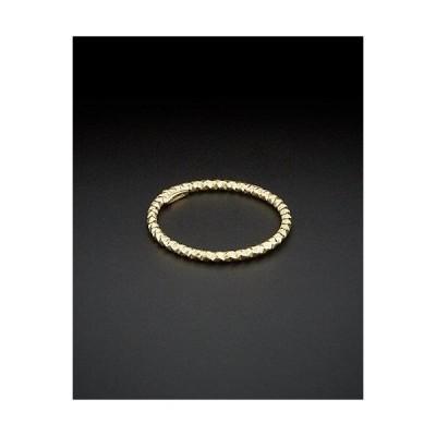 レディース アクセサリー  14K Italian Gold Diamond-Cut Band Ring