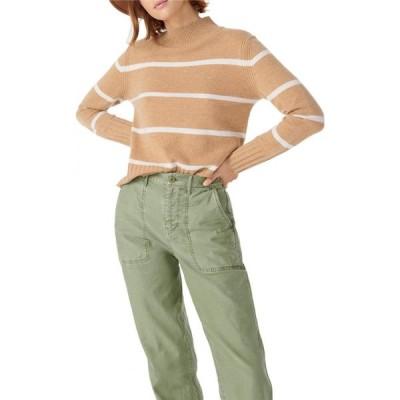 ジェイクルー J.Crew レディース ニット・セーター トップス Stripe Cashmere Mock Neck Sweater Heather/Camel/Snow
