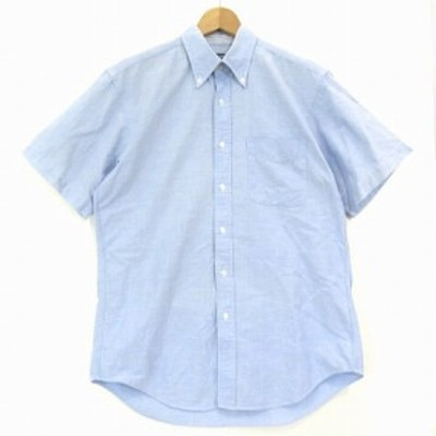 【中古】スキャッティー SCHIATTI カジュアル シャツ 半袖 BD ボタンダウン コットン 青 ブルー M トップス メンズ
