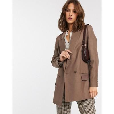 エイソス レディース ジャケット・ブルゾン アウター ASOS DESIGN perfect blazer in brown