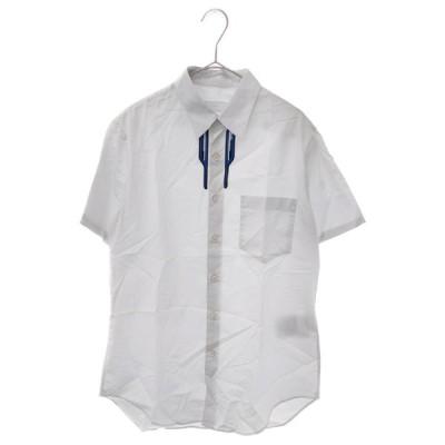 PRADA (プラダ) ラバーロゴ半袖シャツ ホワイト UCS335