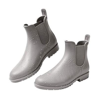 [kweco] レディースレインブーツファッションレイン ブーツ サイドゴア 雨靴防水 梅雨対策