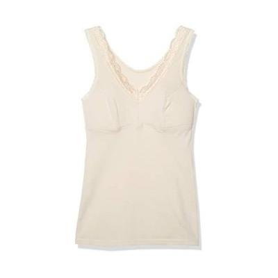 セシール インナーシャツ 綿100% ソフトカップ付きノースリーブ レディース ベージュ 日本 M (日本サイズM相当)