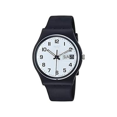 Swatch Women's None Quartz Silicone Strap, Black, 19 Casual Watch (Model: G 好評販売中