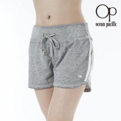 オーシャンパシフィック Ocean Pacific OP 日本正規品 レディース ウォークショーツ ショートパンツ ショーパン 短パン OP ロゴ グレー