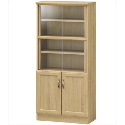 【送料無料】【HONOBORA】ミニカップボード HNB-1255DG おすすめ おしゃれ ミニ食器棚 食器棚 引き戸 ナチュラル 食器棚 カップボード キッチンボード キッチ