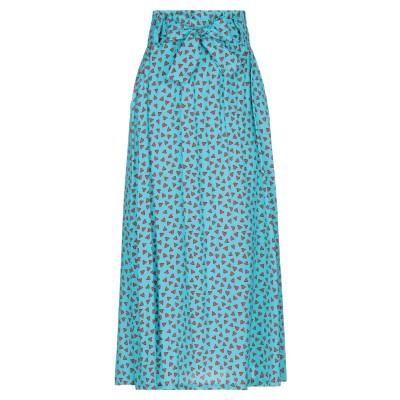 パロッシュ P.A.R.O.S.H. ロングスカート ターコイズブルー L シルク 93% / ポリウレタン 7% ロングスカート