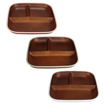 木目スクエアワンプレートL トリム 日本製 人気 北欧風 プラスチック 食器 取り皿 テーブルウェア
