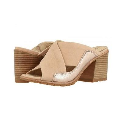 SOREL ソレル レディース 女性用 シューズ 靴 ヒール Nadia Mule - Natural Tan Full Grain Leather/Metallic Suede